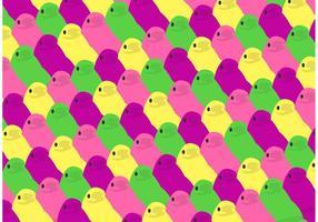 Pâques peeps pattern vecteur gratuit