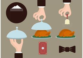 Butler Service Kostenlose Vektoren
