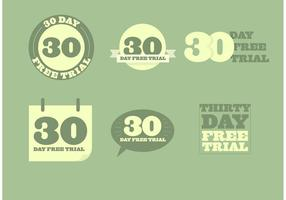 30 Day Free Trial Vectors