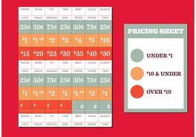 Venda de quintal tags de preços vetor livre