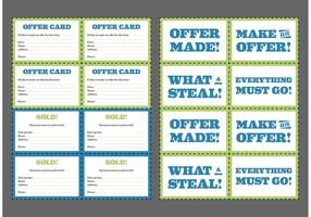 Yard Sale Cards Gratis Vector