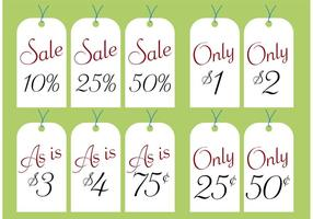 Yard Sale Price Tags Free Vector