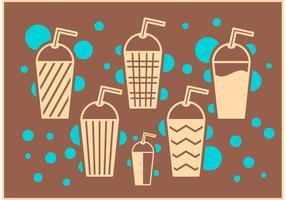 Vecteurs de café glacé
