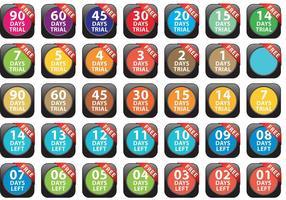 Iconos de prueba de prueba gratis