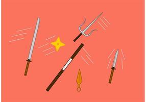 Icônes vectorielles ninjas