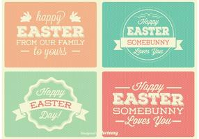 Vectores De Las Etiquetas De Pascua De La Vendimia