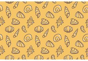 Yellow Pearl Shell Vector Pattern