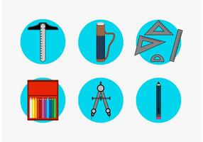 Architectuur Tools Vector Pictogrammen Set Free