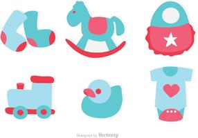 Baby Toys Icons Vector