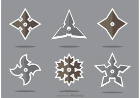 Set av Ninja Star Vector