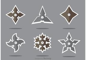 Set of Ninja Star Vector