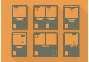 Minimalisme Claw Machine Vector Set