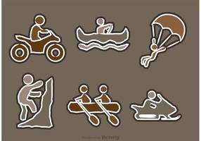Extreme Sport Icons Vectors