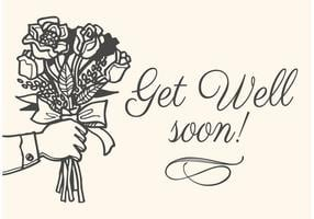 Livre Drawn Get Well Soon Vector Card