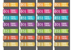 Free Trial Ribbons vector