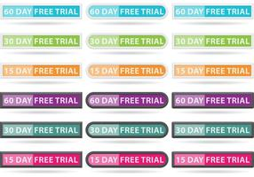 Free Trial Button Vektoren