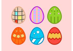 Easter Eggs Cartoon Vector