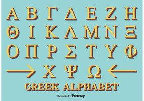 Dekoratives griechisches Alphabet