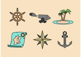 Piraten Abenteuer Vector Icons Pack