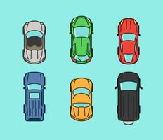 Aerial View Vector Car Icons