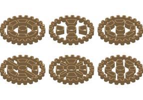 Engranajes de la rueda dentada de la bici