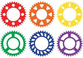 Bunte Fahrrad-Kettenrad-Vektoren