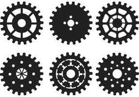 Bike Sprocket Vector Silhouettes