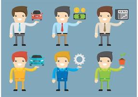 Vetores de trabalhador de desenhos animados