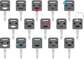 Car Keys Emoticon Vectors
