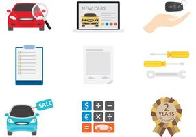 Car Dealership Vector Icons