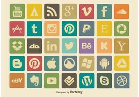 Vintage-soacial-media-icon-set