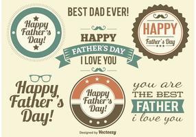 Vecteurs d'étiquettes du jour du père