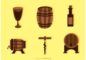 Collection Of Whiskey Icons Vector
