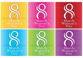 Frauen-Tageskarten-Vorlagen-Vektoren