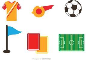 Iconos De Fútbol De Los Vectores
