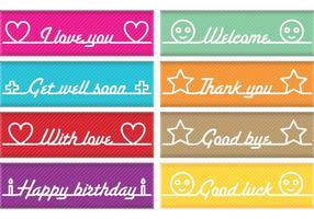 Mensajes Banner Vectores