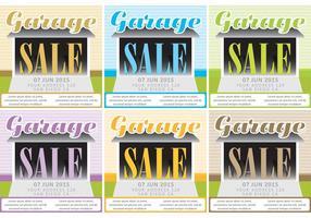 Garage Försäljning Vector Bakgrunder