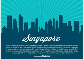 Singapur Skyline Illustration