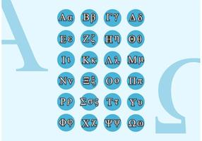 Grec Alphabet Small Caps Vector Free