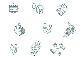Abstract City Vector Elements
