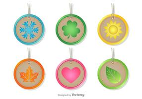 Seasonal Rounded Tags vector