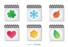 Seasonal Calendars Icon Vectors