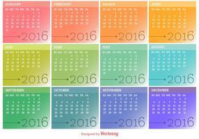 Vector Calendario 2016