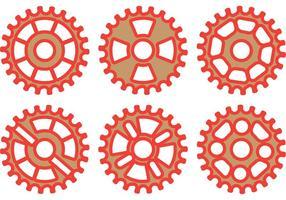Red Bike Sprocket Vector Pack