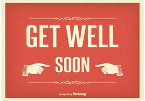 Vintage Get Well Soon Illustration