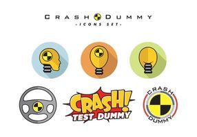 Crash dummy vektor gratis