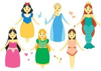 Barbie Princess Vector Dolls