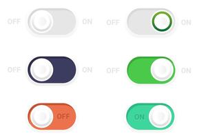 On Off Toogle Button Vectors