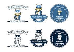 Specialtilbud för presidentens dagvektorer