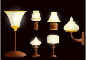 Nice Wooden Lamp Vectors